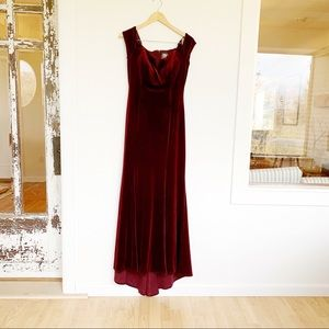 Vince Camuto Velvet Burgundy Bridesmaid Dress